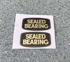 Olds School Bmx Sealed Bearing Hub Wheel Rim Stickers Black On Gold