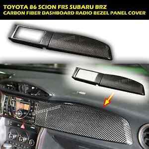 Dashboard Cover 2PCS-LHD Carbon Fiber Fits 13 14 15 86 Scion FRS Subaru BRZ