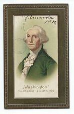 Vintage Postcard, George Washington, Posted 1908, Embossed.
