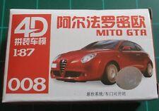 1/87 HO Scale Alfa Romeo MITA GTA Plastic Model Kit 4D #008