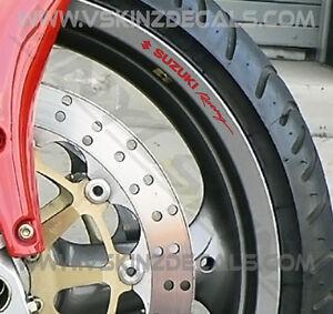 8x Suzuki Racing Logo Premium Cast Wheel Rim Decals Stickers GSXR 1000 750 RR