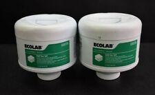 2 Pk Ecolab Aquanomic Biocare Low Temp Laundry Iron Control Sour & Softener 6lbs