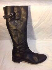 Jones Boot Maker Black Knee High Leather Boots Size 42