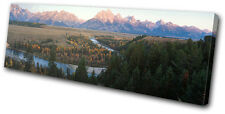 Landscapes Mountain River SINGLE DOEK WALL ART foto afdrukken