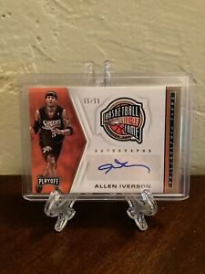 2019-20 Panini - Chronicles Playoff Basketball Allen Iverson Autograph Card!