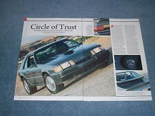 """1986 Mustang SVO Article """"Circle of Trust"""""""