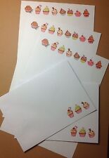 Coloré Yummy Cupcakes Letter Writing Paper & Enveloppes Stationery Set