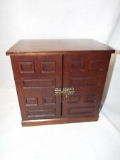 Vintage Wooden Musical Jewelry Box Chest Medieval Mcm Storage Japan Super Cute!