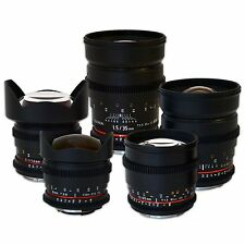 Rokinon Cine Lens Bundle for Canon - 35mm + 24mm + 14mm + 85mm + 8mm HD