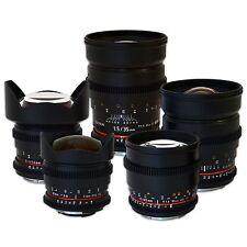 Rokinon Cine Lens Bundle for Canon - 35mm + 24mm + 14mm + 85mm + 8mm HD