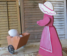 BOX OF PROJECTS-UNPAINTED SURFACES -FARM LADIES & SAILOR GIRL FIGURES--B1116