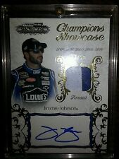 2012 PressPassShowcase JIMMIE JOHNSON #d 14/25 autogragh race-used swatch CHS-JJ