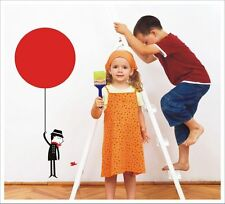Kids Removable Vinyl Wall Stickers - Big Red Balloon SA-12-026