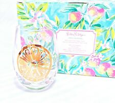 Lilly Pulitzer Set Of 2 Wine Glasses