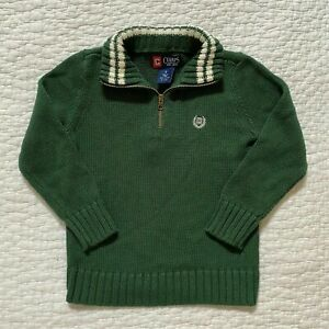 NWT BOYS CHAPS GREEN KNIT SWEATER 5
