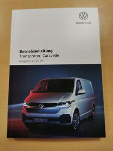 VW TRANSPORTER, CARAVELLE Bedienungsanleitung Betriebsanleitung 11/2019 DEUTSCH