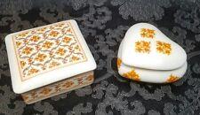 2 x Vintage Georges Boyer Limoges Marcel Rochas Porcelain Trinket/Jewelry Boxes