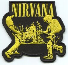 NIRVANA performing EMBROIDERED IRON-ON PATCH -p4227 nevermind in utero FREE SHIP
