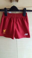 New LIVERPOOL FC 3 x Pairs of Childs Football Shorts Two Red One White see below