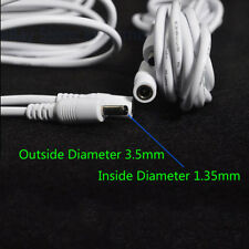 2pcs White 10ft Dc 5V Extension Power Cable 3.5*1.35mm 4 Ip Camera easy N Jkp