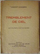 Vincent HUIDOBRO - Tremblement de ciel (1932 - Envoi signé de l'auteur)
