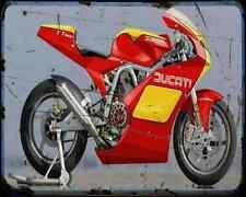 Ducati Tt 1000 A4 Metal Sign Motorbike Vintage Aged