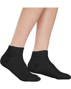 Hanes Boys 10-Pack Black Ankle Socks (fits Shoe Size 4 1/2 - 8 1/2 Small)