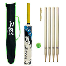 COMPLETE KIDS CRICKET KIT KASHMIR WILLOW BAT + WICKETS BALL FOR 9-14 YEAR CHILD