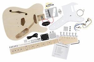 Constuire Votre Popre DIY Kit Guitare Electrique Fait Maison Hollowbody TL Style