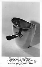 Frashers RPPC Ebony Silver Pitcher Dish Exhibit LA County Fair California~124082
