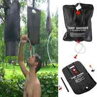 20L Solar Heated Portable Camping Shower Bag Outdoor Hiking Camp PVC Water Bag
