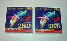 "Caja 10 Disks Fujifilm MF2HD 1,44MB HD IBM Formatted Disquete 3.5"" Rojo Nuevo"