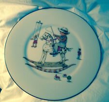 Vintage Lenox Special Boy in Rocking Horse with Blue lined lip plate