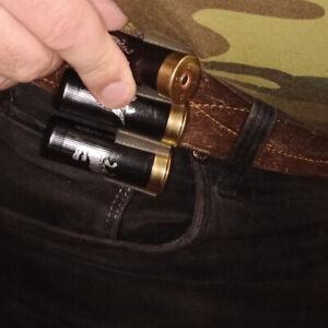 3 Shotgun Shell Tactical 12 Gauge Shell Ammo Holder Belt/Vest Clip