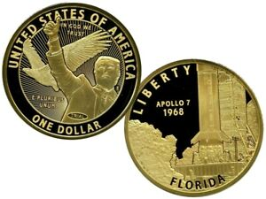 APOLLO 7 AMERICAN INNOVATIONS DOLLAR TRIAL COMMEMORATIVE S COIN PROOF $99.95