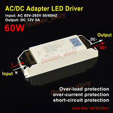 AC-DC AC110V 220V 230V DC12V 5A 60W LED Driver transformador Adaptador