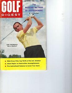 1960 SEPTEMBER Golf Digest magazine Dow Finsterwald, Man or Machine VG