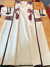 Vintage Unisex Boutique Ethnic Folk Style Wool Long Coat or Duster from Slovakia