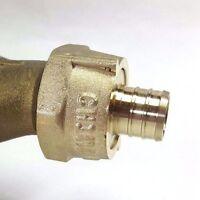 "3/4"" PEX Water Meter Coupling, LEAD FREE brass, 3/4"" Swivel nut x 3/4 PEX Barb"