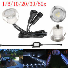 1-50x Cool white LED Deck/Decking Plinth Lights Recessed Outdoor Garden Lighting