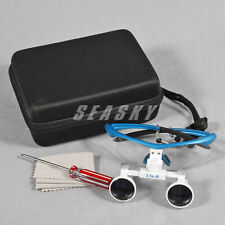 Dental Surgical Binocular Loupes Glasses Lens Magnifier 3.5X Blue USA SELLER
