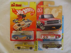 HOT WHEELS  LOT OF 4 =  ' 83 CHEVY SILVERADO =  IN DIFFERENT COLORS