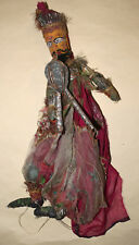 Hand made Indian Kathputli  traditional bagpipe player puppet marionette or doll