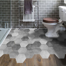 Self Adhesive Hexagon Tile Wall Floor Decal Sticker Kitchen Bathroom Decor DP