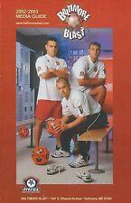 2002-03 Baltimore Blast MISL Indoor Soccer Media Guide - #FWIL