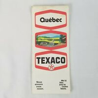 Vintage 1970 Texaco Quebec Canada Province Road Map