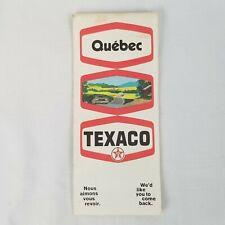 Vintage 1970 Texaco Quebec Road Map