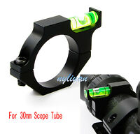 Metal 30mm Ring Scope Mount With Bubble Level for Rifle Sight Tube Hunting