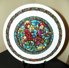 Darceau~Limoges Noel Vitrail~Stained Glass Christmas Plate #1~Flight into Egypt