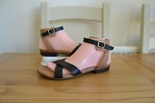 NEW CLARK`S VIVECA ZEAL BLACK+TAN LEATHER ANKLE STRAP SANDALS UK 6E RRP £50.00
